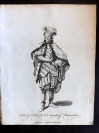 Jefferys C1760 Theatre Costume Print. Selim in the Tragedy of Barbarpsa